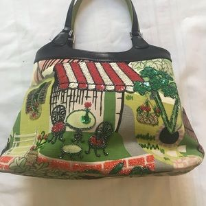 Vintage Isabella Fiore Bag(Café paris beaded sequi